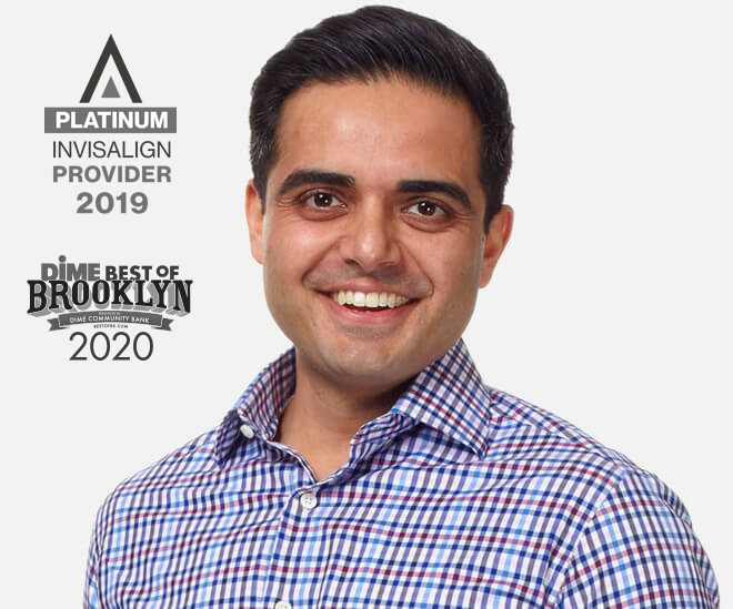Dr. Khanna Invisalign Platinum Provider 2019 and Dime Best of Brooklyn